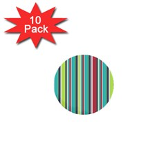 Colorful Striped Background. 1  Mini Buttons (10 pack)