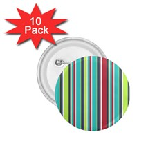 Colorful Striped Background. 1.75  Buttons (10 pack)