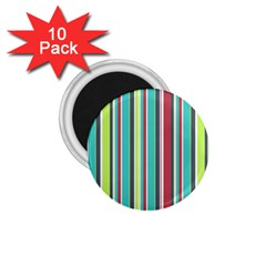 Colorful Striped Background. 1.75  Magnets (10 pack)