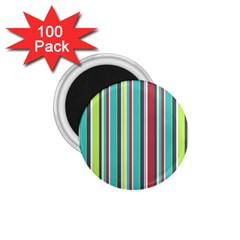 Colorful Striped Background. 1.75  Magnets (100 pack)