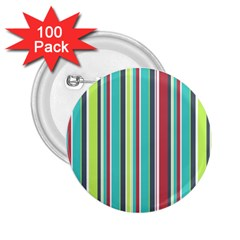 Colorful Striped Background. 2.25  Buttons (100 pack)