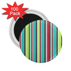 Colorful Striped Background. 2.25  Magnets (100 pack)