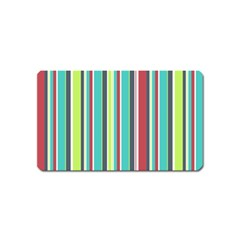 Colorful Striped Background. Magnet (Name Card)