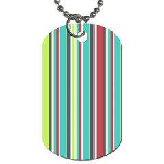 Colorful Striped Background. Dog Tag (One Side)