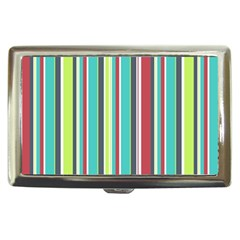 Colorful Striped Background. Cigarette Money Cases