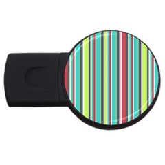 Colorful Striped Background. USB Flash Drive Round (2 GB)