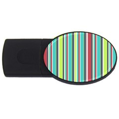 Colorful Striped Background. USB Flash Drive Oval (1 GB)