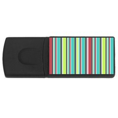 Colorful Striped Background. USB Flash Drive Rectangular (1 GB)