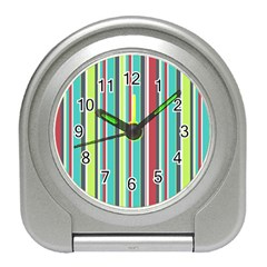 Colorful Striped Background. Travel Alarm Clocks