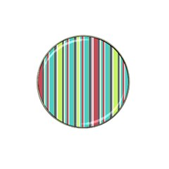 Colorful Striped Background. Hat Clip Ball Marker (4 pack)