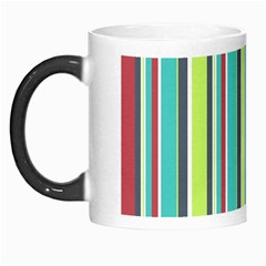 Colorful Striped Background. Morph Mugs