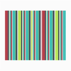 Colorful Striped Background. Small Glasses Cloth