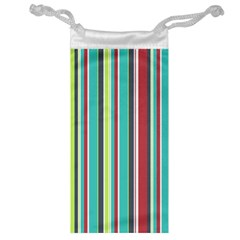 Colorful Striped Background. Jewelry Bag