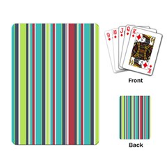Colorful Striped Background. Playing Card