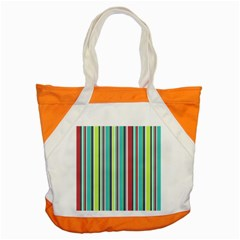 Colorful Striped Background. Accent Tote Bag
