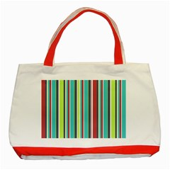 Colorful Striped Background. Classic Tote Bag (Red)