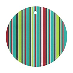 Colorful Striped Background. Round Ornament (Two Sides)