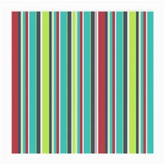 Colorful Striped Background. Medium Glasses Cloth (2-Side)