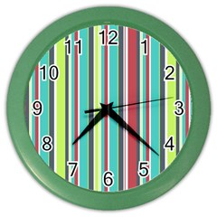 Colorful Striped Background. Color Wall Clocks