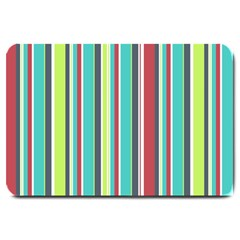 Colorful Striped Background. Large Doormat