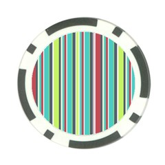 Colorful Striped Background. Poker Chip Card Guard