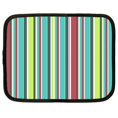 Colorful Striped Background. Netbook Case (Large)