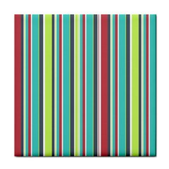 Colorful Striped Background. Face Towel