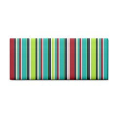 Colorful Striped Background. Cosmetic Storage Cases