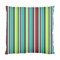 Colorful Striped Background. Standard Cushion Case (One Side)