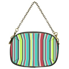 Colorful Striped Background. Chain Purses (Two Sides)