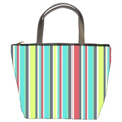 Colorful Striped Background. Bucket Bags