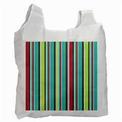 Colorful Striped Background. Recycle Bag (One Side)