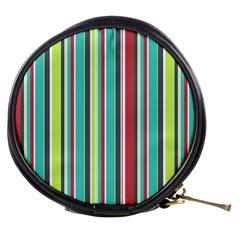 Colorful Striped Background. Mini Makeup Bags