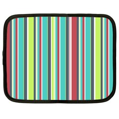 Colorful Striped Background. Netbook Case (XL)