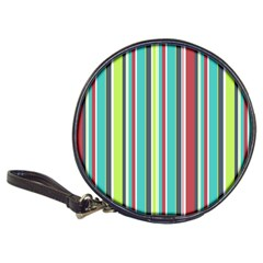 Colorful Striped Background. Classic 20-CD Wallets