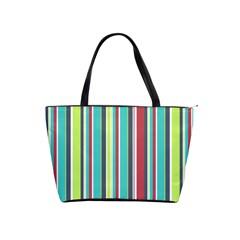 Colorful Striped Background. Shoulder Handbags