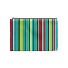 Colorful Striped Background. Cosmetic Bag (Medium)