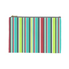 Colorful Striped Background. Cosmetic Bag (Large)