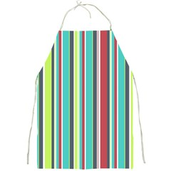 Colorful Striped Background. Full Print Aprons