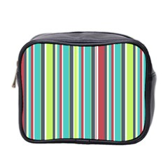 Colorful Striped Background. Mini Toiletries Bag 2-Side