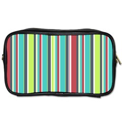 Colorful Striped Background. Toiletries Bags