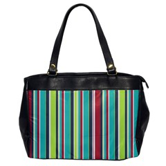 Colorful Striped Background. Office Handbags