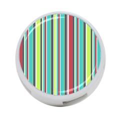 Colorful Striped Background. 4-Port USB Hub (One Side)