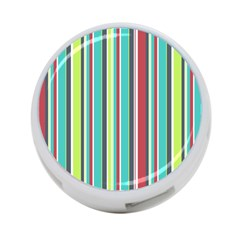 Colorful Striped Background. 4-Port USB Hub (Two Sides)