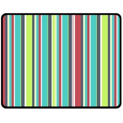 Colorful Striped Background  Fleece Blanket (medium)
