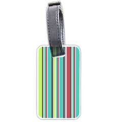 Colorful Striped Background. Luggage Tags (One Side)