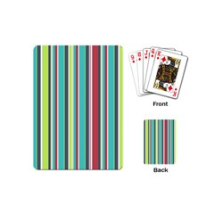 Colorful Striped Background. Playing Cards (Mini)
