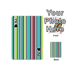 Colorful Striped Background. Playing Cards 54 (Mini)