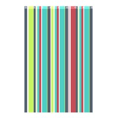 Colorful Striped Background. Shower Curtain 48  x 72  (Small)