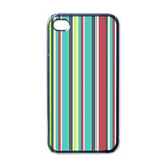 Colorful Striped Background  Apple Iphone 4 Case (black)